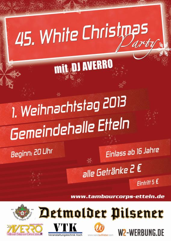 Plakat White Christmas 2013